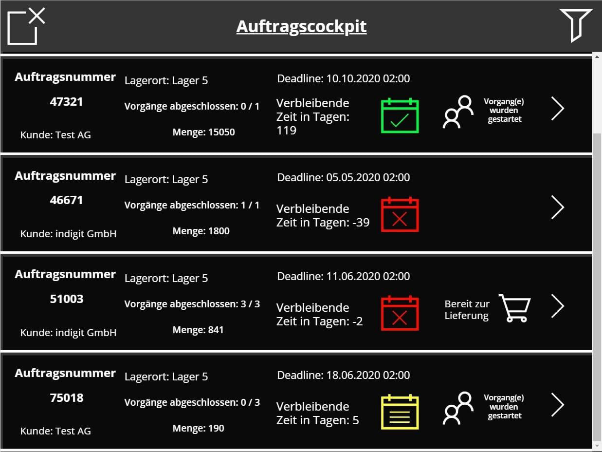 Fertigungsapplikation in PowerApps mit Demodaten